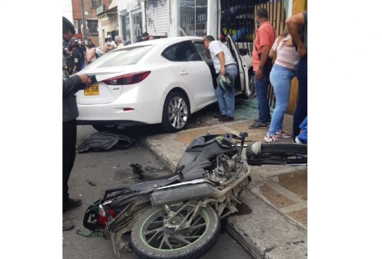 Accidente en el centro de Ibagué