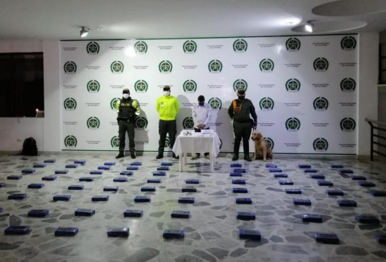 Cocaína incautada en Ibagué.