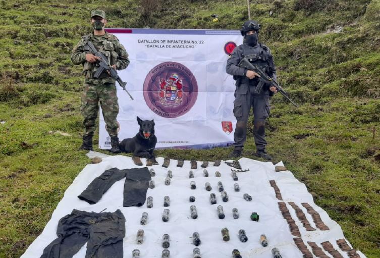 Material de Guerra en Herveo.