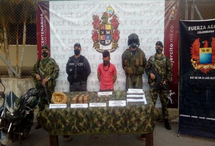 Cayó explosivista de grupo residual en el Tolima