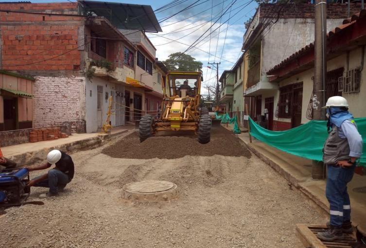 pavimentación barrio Santander Estadio