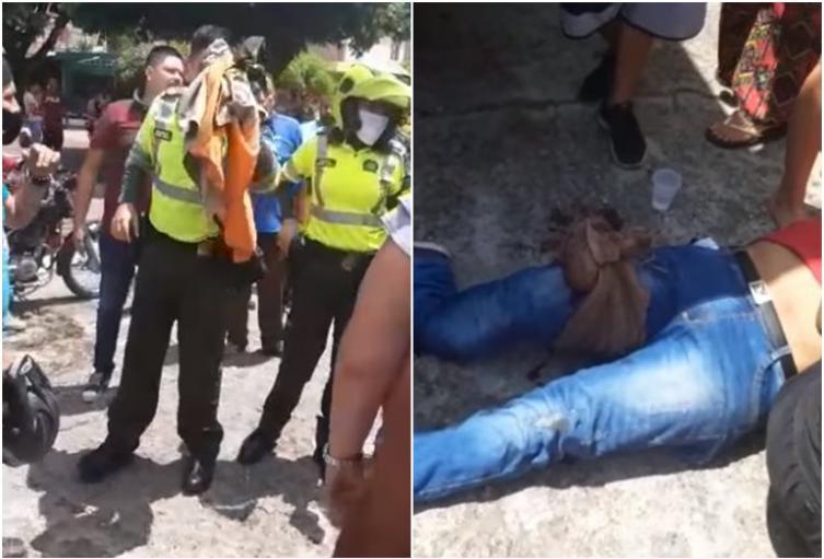 Apuñalaron a dos policías en medio de procedimiento en Mariquita