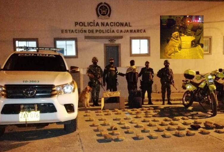 Capturado con 40 kilos de marihuana en el puente de Cajamarca Tolima
