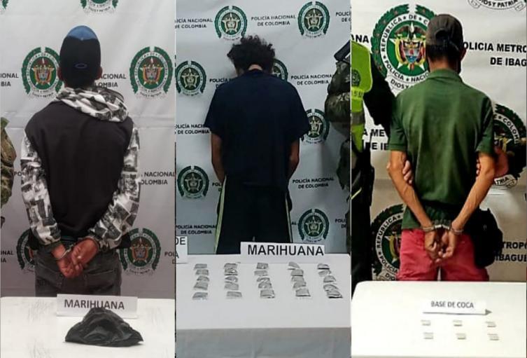 Ejército capturó tres sujetos por microtráfico en Venadillo, Fresno y Alvarado