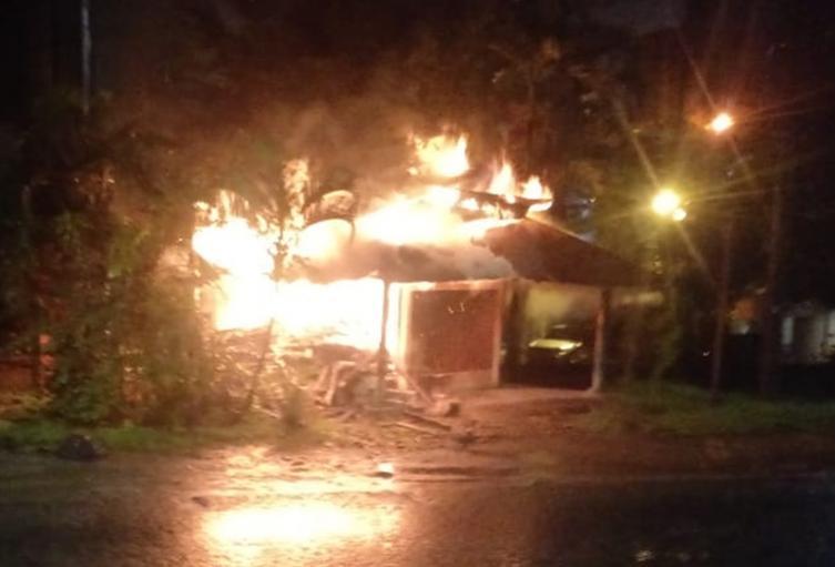 Se incendió restaurante llanero en el sector de Mirolindo