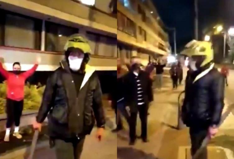 Policía que golpeó con palo a manifestantes el 9S en Bogotá fue capturado