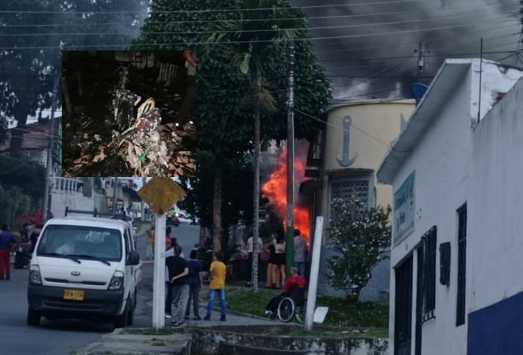 Incendio en el barrio Las Ferias de Ibagué