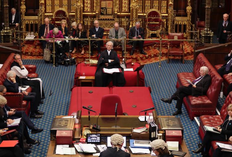 Cámara de los lores del Parlamento británico