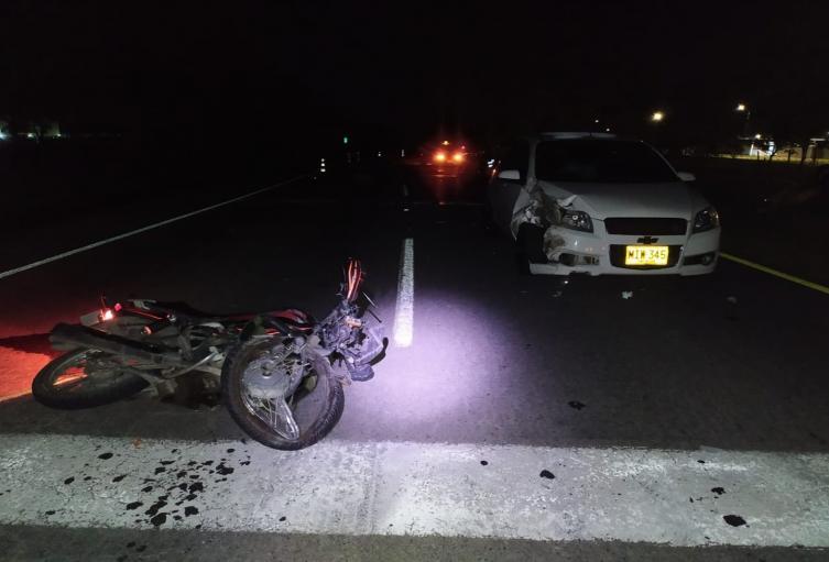 Falleció motociclista que conducía en contravía por la variante del Aeropuerto Perales