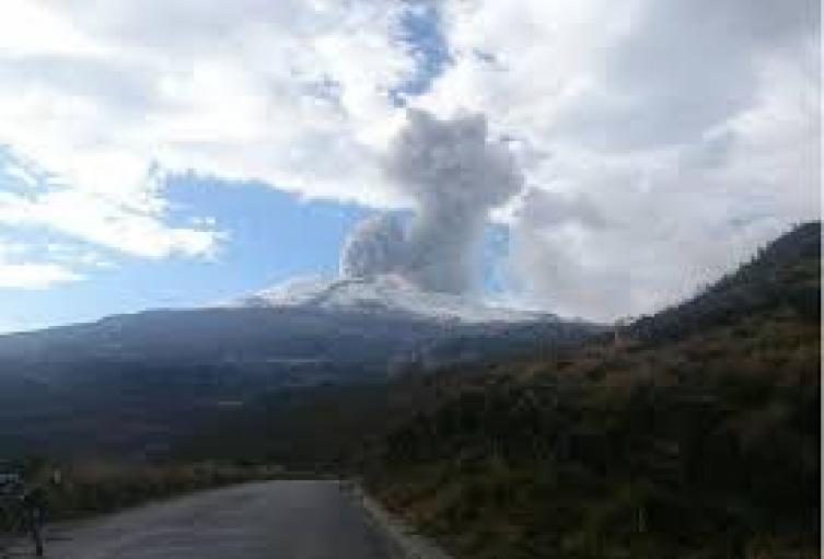 El volcán ha estado activo desde el 2011