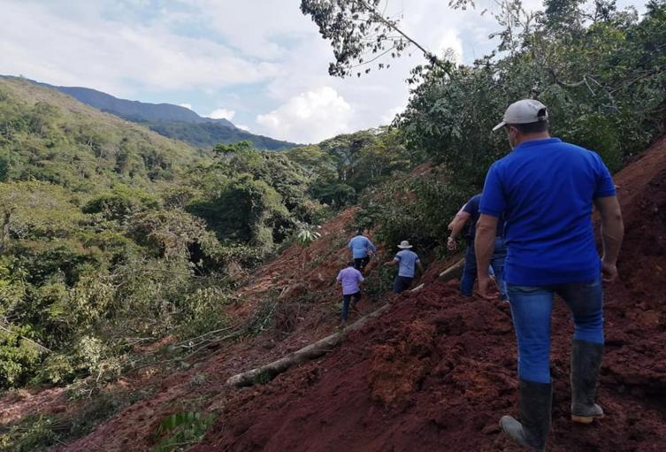 deslizamientos de tierra en Dolores Tolima