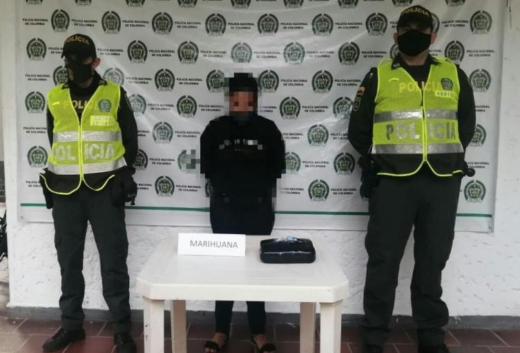 Capturaron en Lérida a mujer con una libra de marihuana