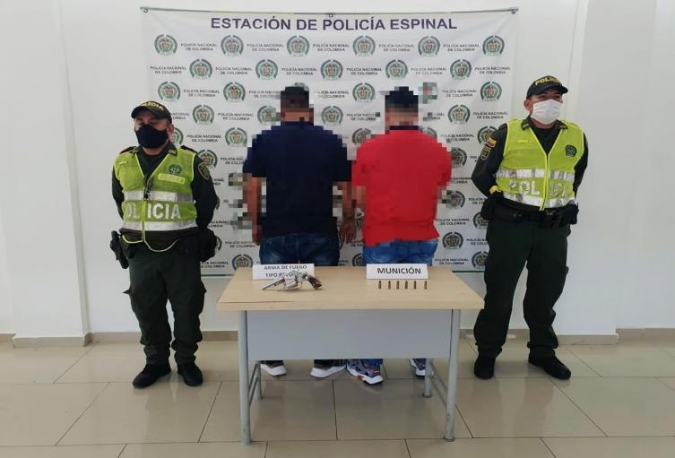 Operativos en El Espinal deja dos capturas