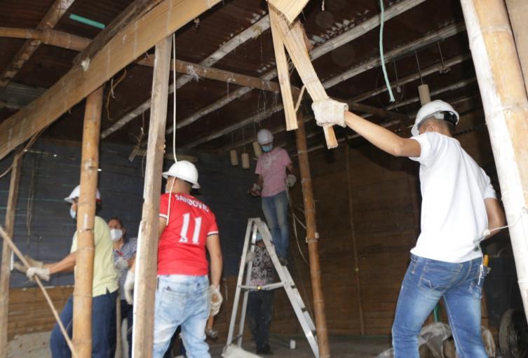 Desmantelamiento de una casa usada para el tráfico de estupefacientes