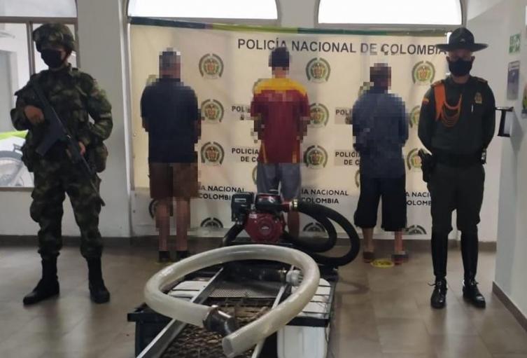 Nuevo y contundente golpe a la minería ilegal en el Tolima