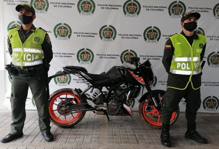 Recuperaron motocicleta avaluada en 11 millones de pesos en Melgar