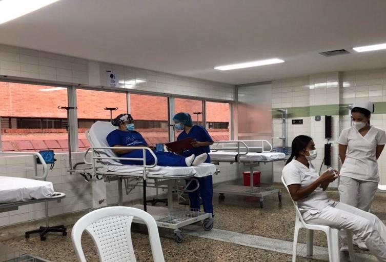 Simulacro de vacunación en Ibagué 2021