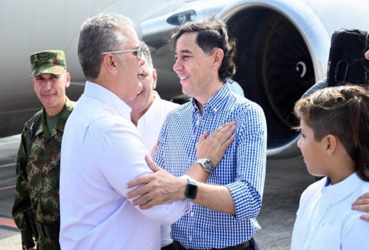 Alcalde Andrés Fabián Hurtado y el presidente Iván Duque en Ibagué- imagen de referencia 2021