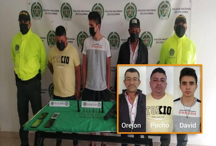 En diligencia de allanamiento fueron capturados 3 individuos con armas de fuego y traumáticas en Timaná