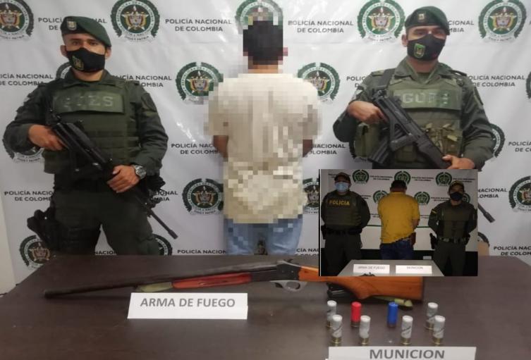 Dos sujetos andaban armados muy campantes por Rovira y San Antonio