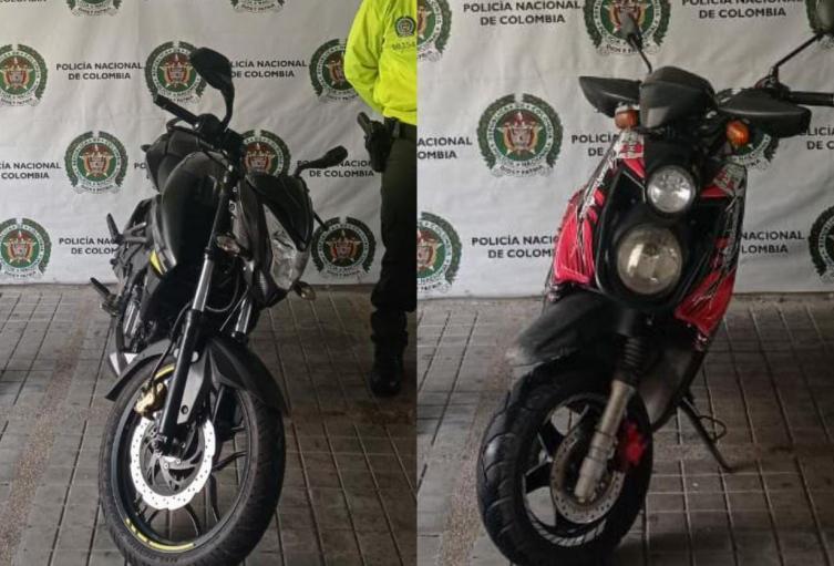 Recuperaron dos motocicletas avaluadas en 15 millones en Melgar