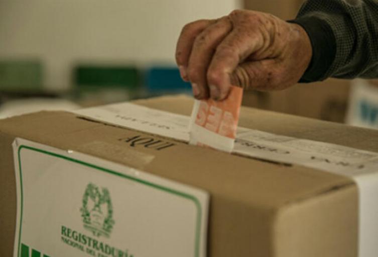 Votaciones en Colombia. (Imagen referencial).