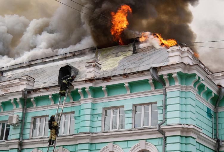 Hospital en llamas