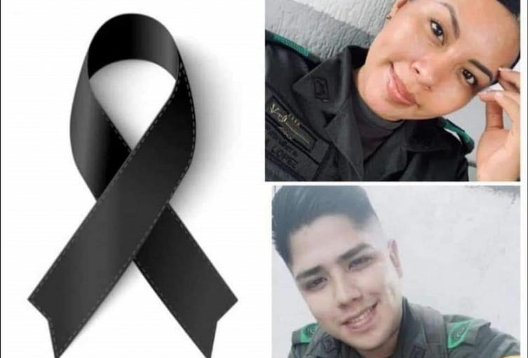 Policías asesinados en Caquetá.