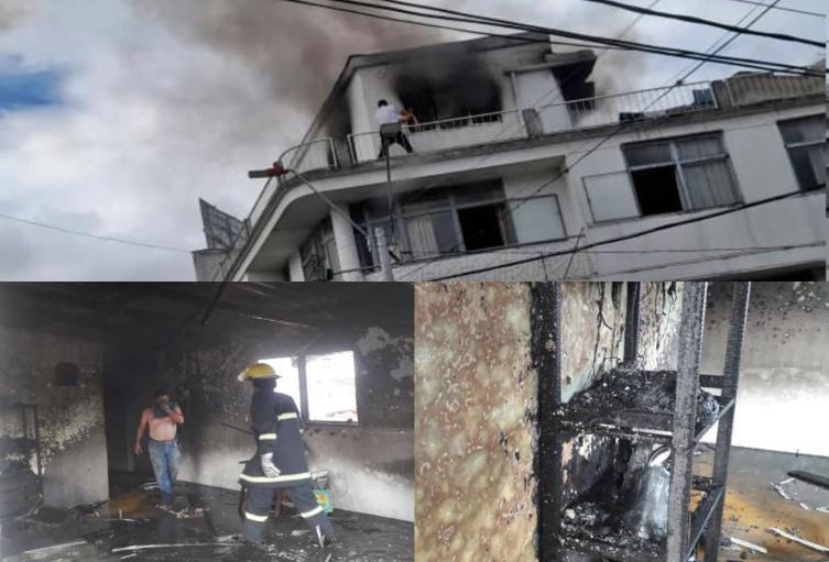 Se registraron dos incendios estructurales simultáneos en Ibagué
