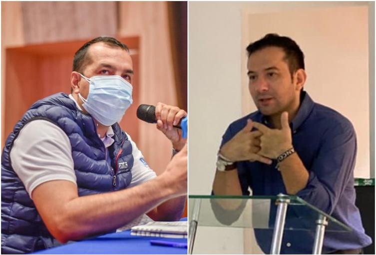 Juan Carlos Núñez, secre de Infraestructura y Didier Blanco, gerente de la Gestora Urbana