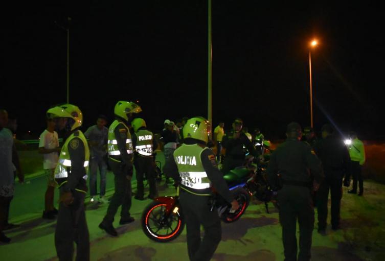 Operativo de la Policía del Atlántico