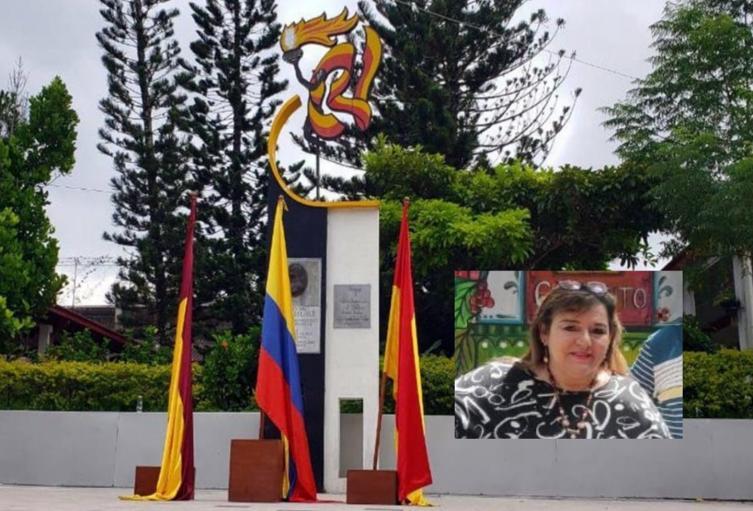 Rectora Ofelia Hernández del Leónidas Rubio en Ibagué