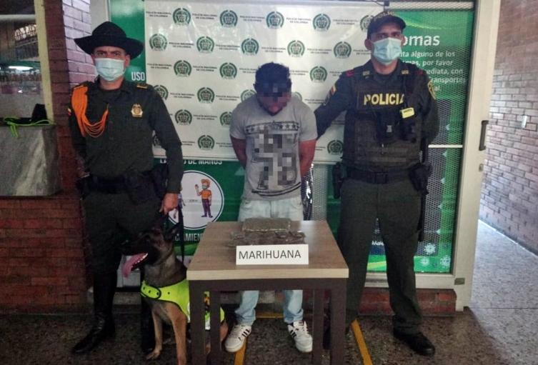 Lo cogieron con 400 dosis de marihuana en la Terminal de Transportes de Ibagué