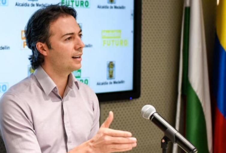 Alcalde de Medellín, Daniel Quintero.