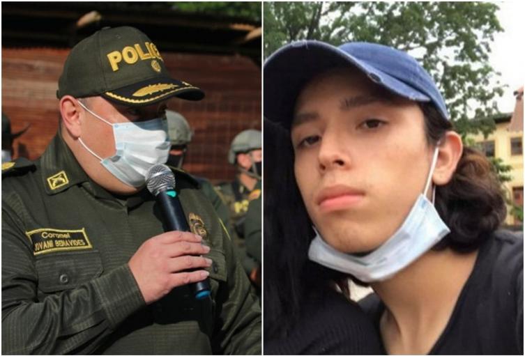 Joven asesinado y comandante