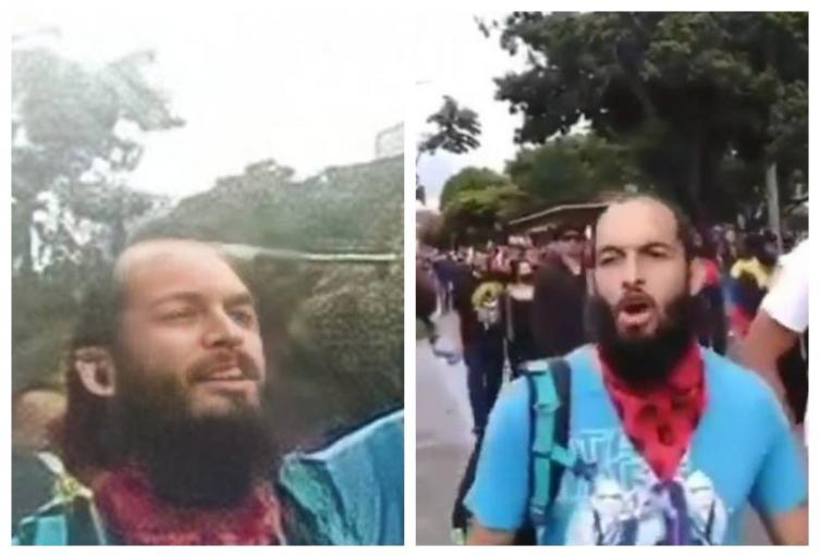 Lucas Villa en las marchas del Paro Nacional en Pereira