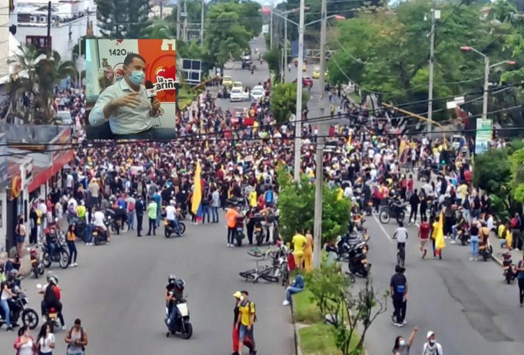 Carlos Portela respondió sobre la no reacción de la Fuerza Pública ante los bloqueos en Ibagué