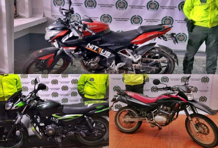 Recuperaron tres motocicletas robadas en Palocabildo, Fresno y El Espinal
