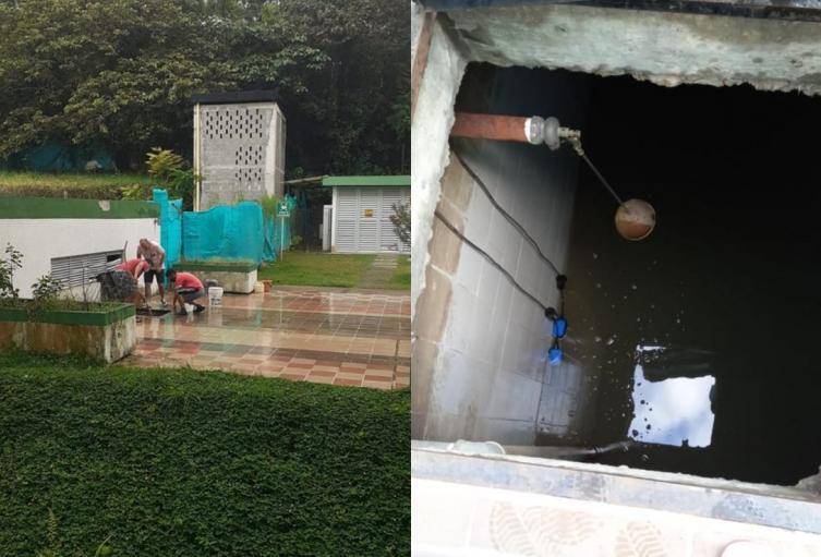Sin agua el proyecto de Alminar Samoa