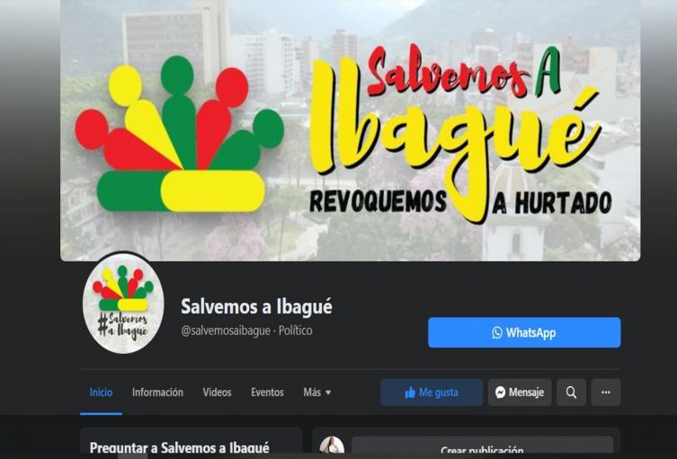 Salvemos a Ibagué- Faceboock