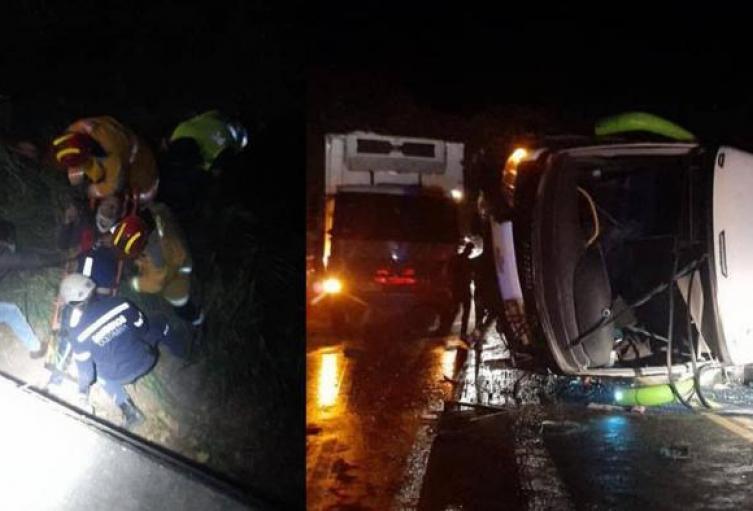 Dos muertos y 17 heridos deja accidente de tránsito en Aipe