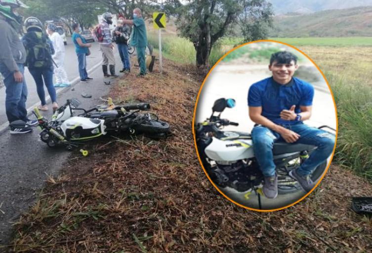 Perdió la vida al chocar con un camión en la vía Campoalegre – Hobo