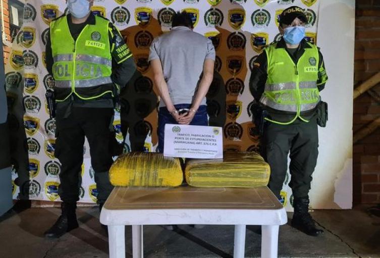 Capturado  sujeto por el delito de tráfico de estupefacientes en el peaje Neiva