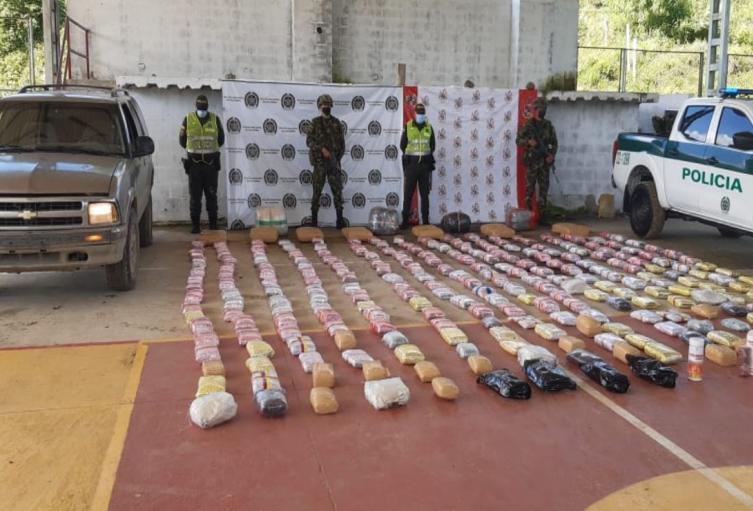 Incautación droga en Tolima.