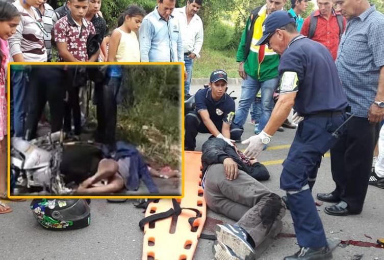 Menor fallece en accidente en Huila