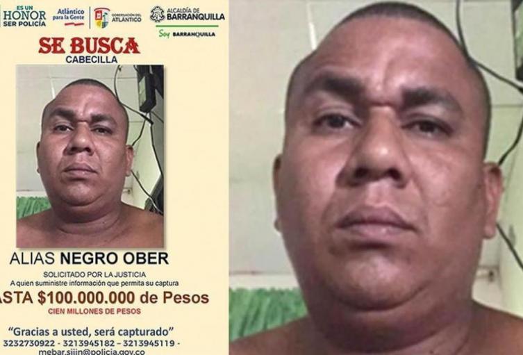 Cayó en Melgar el 'Negro Ober', el delincuente más buscado del Atlántico
