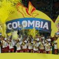 Los jugadores del Deportes Tolima así celebraron el título