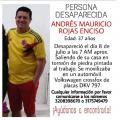 Persona desaparecida en Ibagué