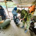 Tres personas fueron capturadas en flagrancia tras los operativos del Ejército, Fiscalía y Cortolima.