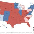 Mapa electoral de EE.UU.